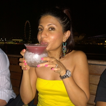 sipping cocktails marina bay
