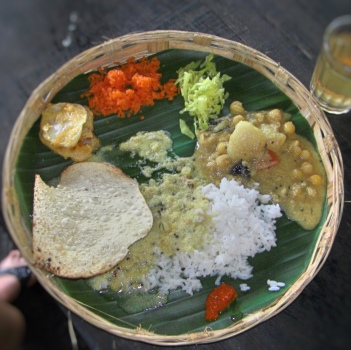 Local thali in Goa