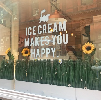 Ice Cream makes you happy sign