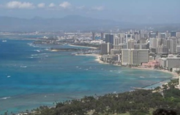 View of Oahu from diamond head