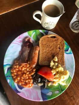 glamping breakfast