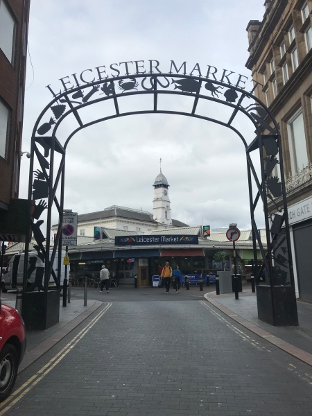 Leicester market entrance