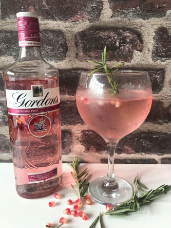 Gin with charred rosemary