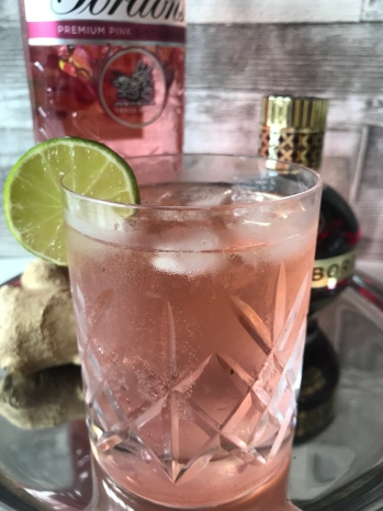 Pink Gin, Chambord & Ginger Beer