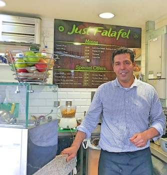 Falafel stand