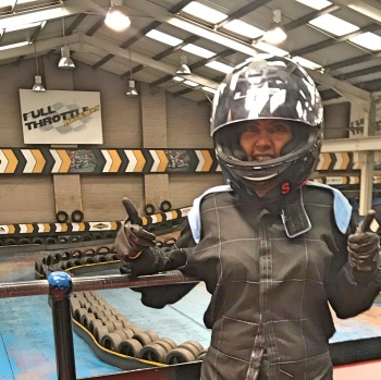 Me all kitted out for go karting