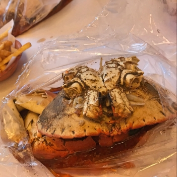 The crab in the bag