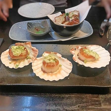 Scallops pan Asian style