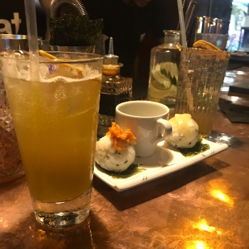 Sushi and cocktail