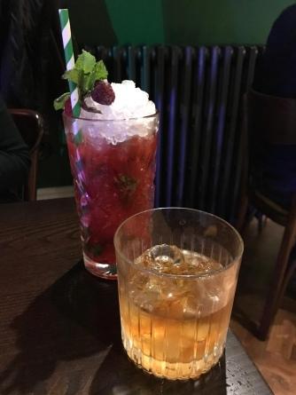 Raspberry Mojito and Rum Old Fashioned
