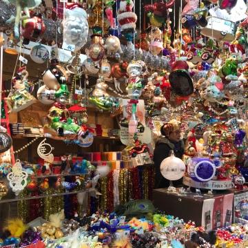 Christmas market decor