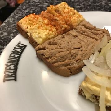 Open sandwich Trześniewski Vienna