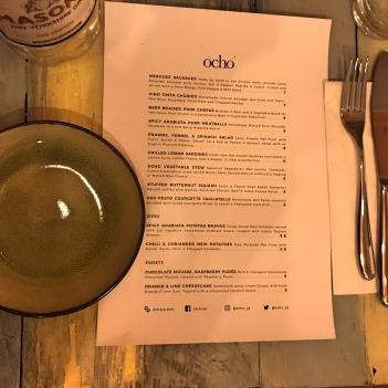 ocho menu