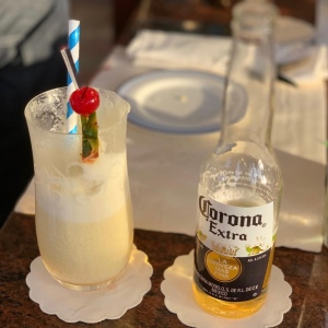 Pina colada and beer