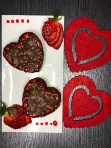 Chocolate brownies valentines