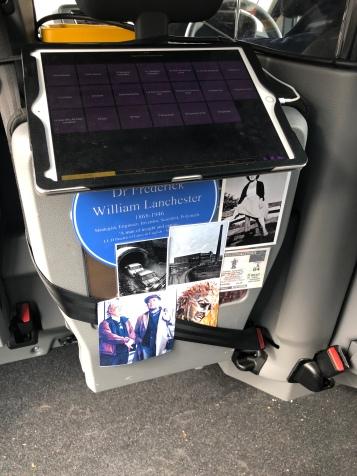 Inside the 2 Tone Taxi
