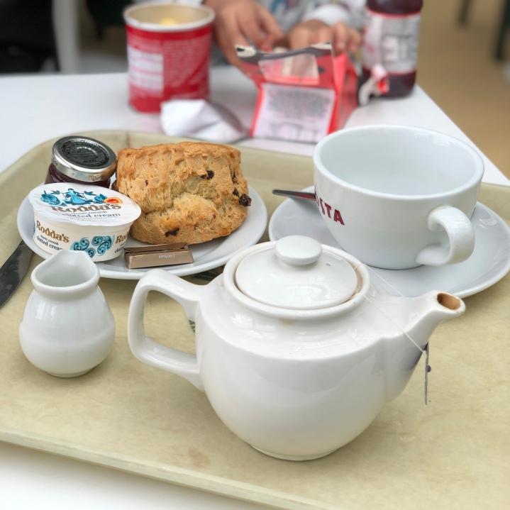 Cream tea in Warwick Castle