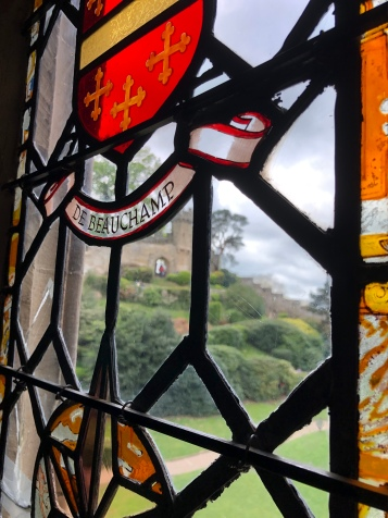 Inside the castle stained glass