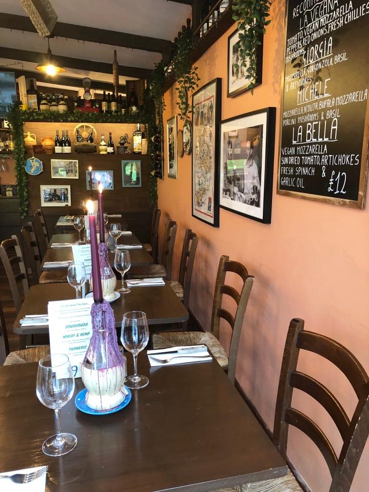 Table setting at Lamezia