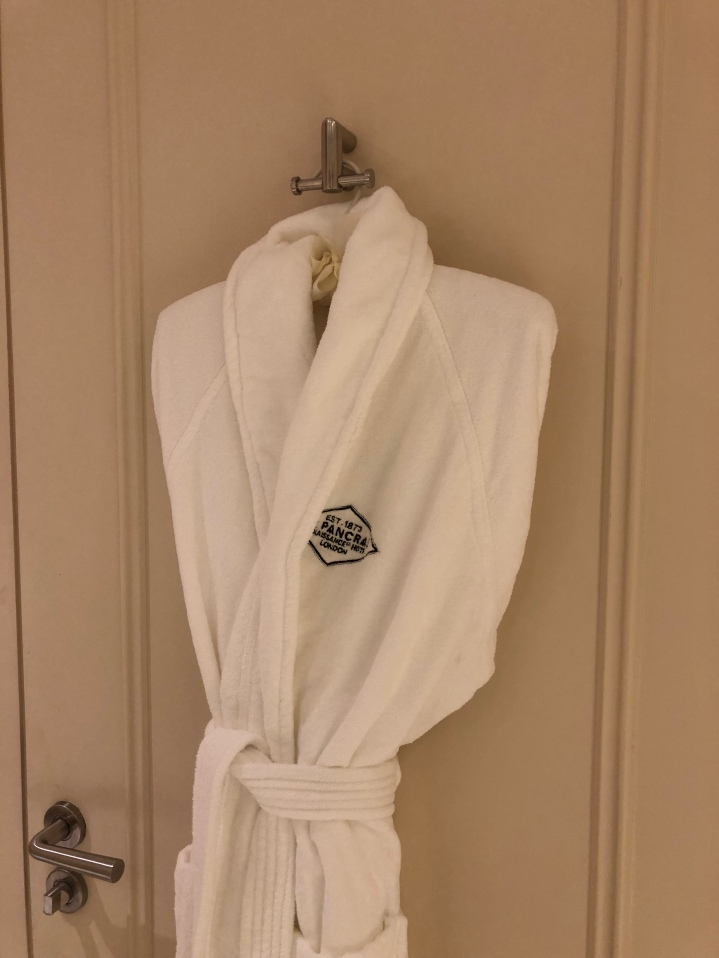 Bath robe in the room