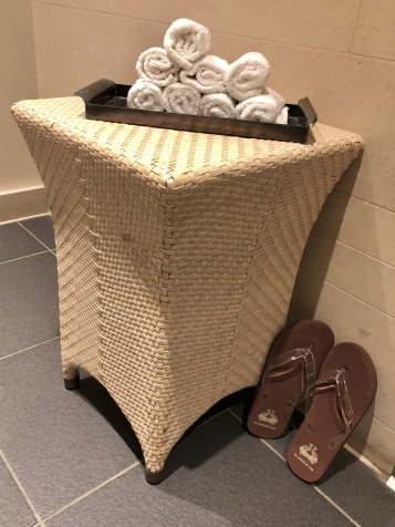 Cold towels at the St Pancras Spa
