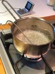 Boiling sugar
