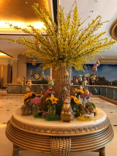 Easter decor at Emirates Palace