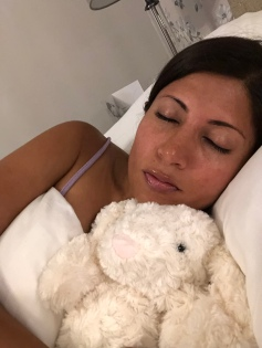 Cuddling Laura Ashley Bunny